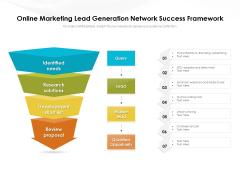 Online Marketing Lead Generation Network Success Framework Ppt PowerPoint Presentation File Slideshow PDF