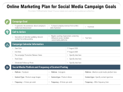 Online Marketing Plan For Social Media Campaign Goals Ppt PowerPoint Presentation Portfolio Model PDF