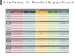 Online Marketing Plan Powerpoint Templates Microsoft