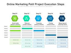 Online Marketing Polit Project Execution Steps Ppt PowerPoint Presentation Icon Structure PDF