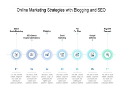 Online Marketing Strategies With Blogging And Seo Ppt PowerPoint Presentation File Mockup