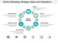 Online Marketing Strategy Sales And Operations Ppt Powerpoint Presentation Styles Maker