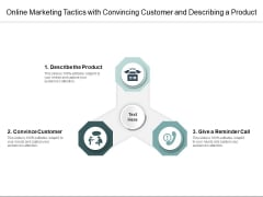 Online Marketing Tactics With Convincing Customer And Describing A Product Ppt PowerPoint Presentation Icon Infographic Template PDF