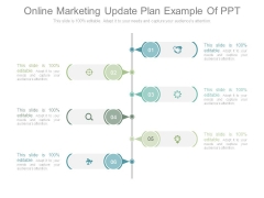 Online Marketing Update Plan Example Of Ppt
