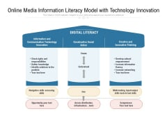 Online Media Information Literacy Model With Technology Innovation Ppt PowerPoint Presentation Infographics Example Introduction PDF