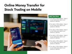 Online Money Transfer For Stock Trading On Mobile Ppt PowerPoint Presentation Icon Diagrams PDF