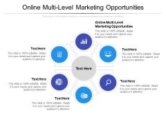 Online Multi Level Marketing Opportunities Ppt PowerPoint Presentation Portfolio Icons Cpb Pdf