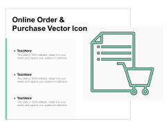 Online Order And Purchase Vector Icon Ppt PowerPoint Presentation Styles Inspiration