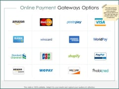 Online Payment Gateways Options Ppt PowerPoint Presentation Inspiration Infographics