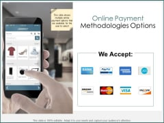 Online Payment Methodologies Options Ppt PowerPoint Presentation Icon Guidelines