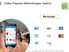 Online Payment Methodologies Options Ppt PowerPoint Presentation Professional Styles