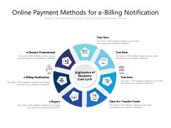 Online Payment Methods For E Billing Notification Ppt PowerPoint Presentation File Mockup PDF