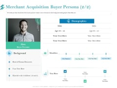 Online Payment Platform Merchant Acquisition Buyer Persona Background PDF