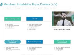 Online Payment Platform Merchant Acquisition Buyer Persona Cash Infographics PDF