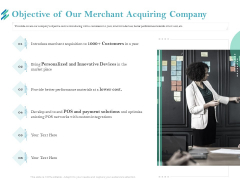 Online Payment Platform Objective Of Our Merchant Acquiring Company Icons PDF