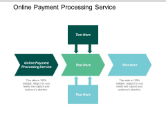 Online Payment Processing Service Ppt PowerPoint Presentation Infographic Template Deck Cpb