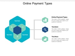 Online Payment Types Ppt PowerPoint Presentation Model Graphic Tips Cpb