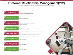 Online Product Planning Customer Relationship Management Returns Ppt Gallery Deck PDF
