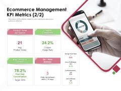 Online Product Planning Ecommerce Management KPI Metrics Ppt Ideas Portfolio PDF