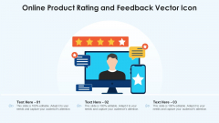 Online Product Rating And Feedback Vector Icon Ppt PowerPoint Presentation Gallery Aids PDF