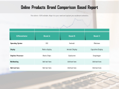 Online Products Brand Comparison Based Report Ppt PowerPoint Presentation Icon Files PDF