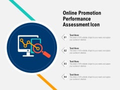 Online Promotion Performance Assessment Icon Ppt PowerPoint Presentation File Vector PDF