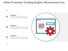 Online Promotion Tracking Analytics Measurement Icon Ppt PowerPoint Presentation File Inspiration PDF