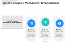 Online Reputation Management Small Business Ppt PowerPoint Presentation Outline Influencers Cpb