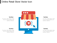 Online Retail Store Vector Icon Ppt PowerPoint Presentation Gallery Designs Download PDF
