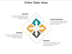 Online Sales Ideas Ppt PowerPoint Presentation Styles Slides Cpb