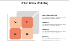 Online Sales Marketing Ppt PowerPoint Presentation Model Demonstration Cpb