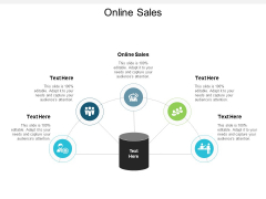 Online Sales Ppt PowerPoint Presentation Visual Aids Icon Cpb
