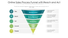 Online Sales Process Funnel With Reach And Act Ppt Ideas Professional PDF