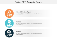 Online Seo Analysis Report Ppt PowerPoint Presentation File Demonstration Cpb