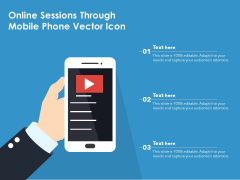 Online Sessions Through Mobile Phone Vector Icon Ppt PowerPoint Presentation Visual Aids Ideas PDF