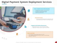 Online Settlement Revolution Digital Payment System Deployment Services Summary PDF