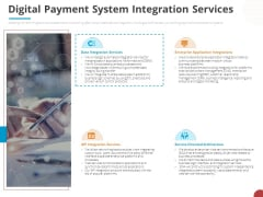 Online Settlement Revolution Digital Payment System Integration Services Designs PDF