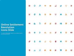 Online Settlement Revolution Icons Slide Microsoft PDF