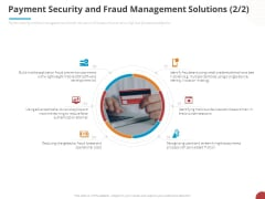 Online Settlement Revolution Payment Security And Fraud Management Solutions Browser Icons PDF