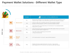 Online Settlement Revolution Payment Wallet Solutions Different Wallet Type Summary PDF