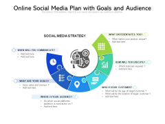 Online Social Media Plan With Goals And Audience Ppt PowerPoint Presentation File Clipart Images PDF