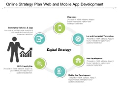 Online Strategy Plan Web And Mobile App Development Ppt Powerpoint Presentation Visuals
