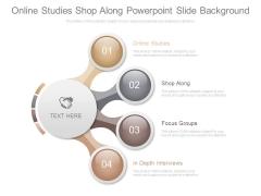 Online Studies Shop Along Powerpoint Slide Background