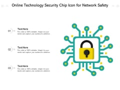 Online Technology Security Chip Icon For Network Safety Ppt PowerPoint Presentation File Graphics Example PDF