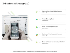 Online Trade Management System E Business Strategy Social Ppt Show Samples PDF