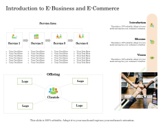 Online Trade Management System Introduction To E Business And E Commerce Ppt Ideas Vector PDF