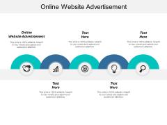 Online Website Advertisement Ppt PowerPoint Presentation Styles Graphics Tutorials Cpb