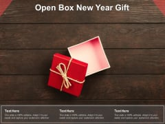 Open Box New Year Gift Ppt PowerPoint Presentation Pictures Deck