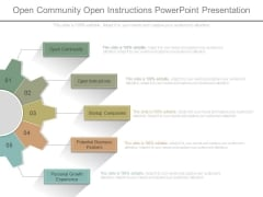 Open Community Open Instructions Powerpoint Presentation