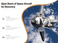 Open Doors Of Space Aircraft For Discovery Ppt PowerPoint Presentation File Gallery PDF